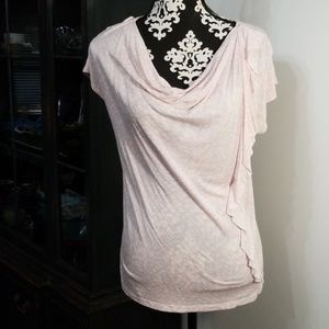 Pink and white top